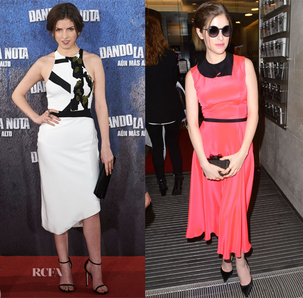 Anna Kendrick In Narciso Rodriguez & Roksanda - 'Pitch Perfect 2' Promo Tour