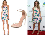 AnnaLynne McCord's Whitney Eve 'Crab Claw' Dress And Stuart Weitzman 'Nudist' Sandals