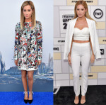 Ashley Tisdale In Alice + Olivia & SAFiYAA - 'Tomorrowland' LA Premiere & Turner Network 2015 Upfront