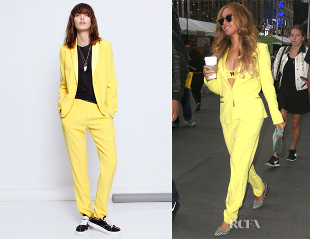 Beyonce Knowles' Zadig & Voltaire 'Ved' Deluxe Blazer And Zadig & Voltaire 'Parone' Deluxe Pants