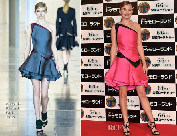 Britt Robertson In Antonio Berardi -  'Tomorrowland' Tokyo Premiere
