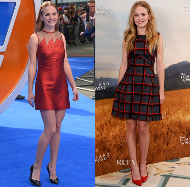 Britt Robertson In Christopher Kane & Christian Dior - 'Tomorrowland A World Beyond' London Premiere & Photocall