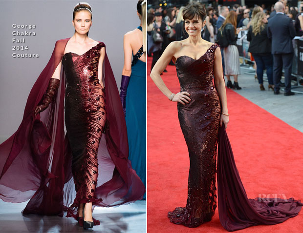 Carla Gugino In Georges Chakra Couture - 'San Andreas' London Premiere