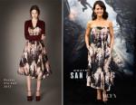 Carla Gugino In Rochas - 'San Andreas' LA Premiere