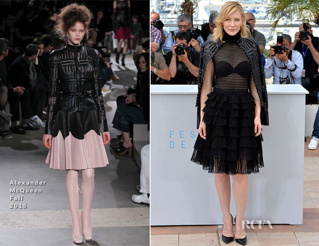 Cate Blanchett In Alexander McQueen - 'Carol' Cannes Film Festival Photocall