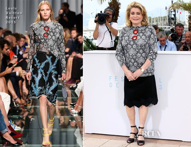 Catherine Deneuve In Louis Vuitton - 'La Tete Haute ('Standing Tall') Cannes Film Festival Photocall