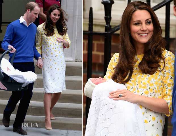 Catherine, Duchess of Cambridge In Jenny Packham - St. Mary's Hospital