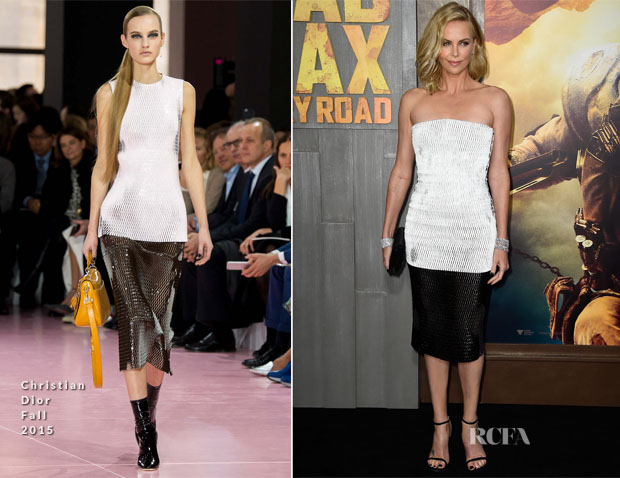Charlize Theron In Christian Dior - 'Mad Max Fury Road' LA Premiere