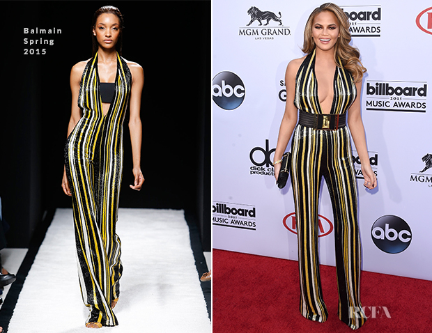 Chrissy Teigen In Balmain - 2015 Billboard Music Awards