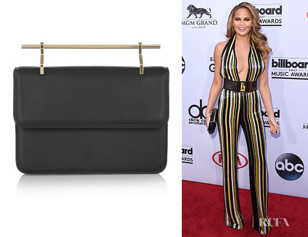 Chrissy Teigen's M2Malletier 'La Fleur Du Mal' Leather Clutch