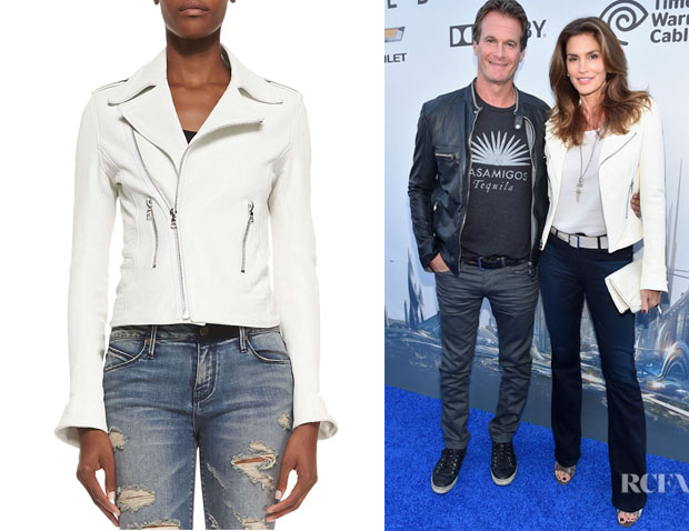 Cindy Crawford's RtA Denim Asymmetric-Zip Biker Jacket