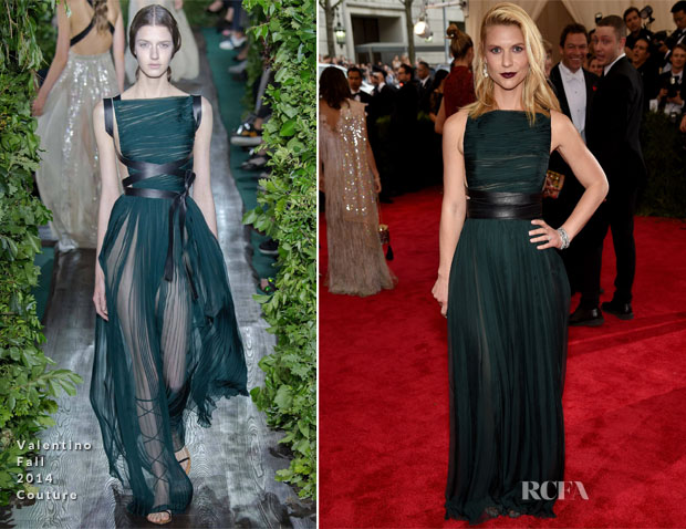 Claire Danes In Valentino Couture - 2015 Met Gala