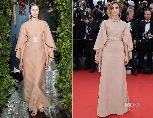 Clotilde Courau In Valentino Couture -  'La Tete Haute' Cannes Film Festival Premiere & Opening Ceremony