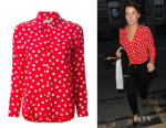 Coleen Rooney's Saint Laurent Polka Dot Shirt