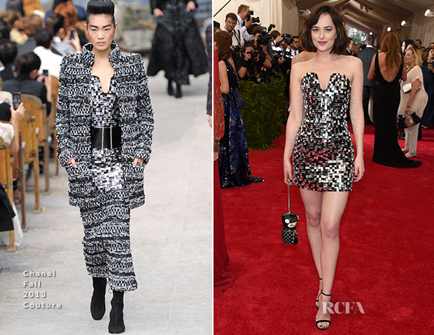 Dakota Johnson In Chanel Couture - 2015 Met Gala