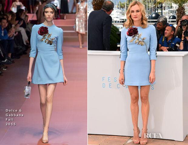 Diane Kruger In Dolce & Gabbana - 'Disorder' Cannes Film Festival Photocall