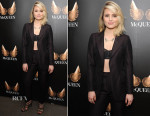 Dianna Agron In Adrien Sauvage - 'McQueen' Press Night