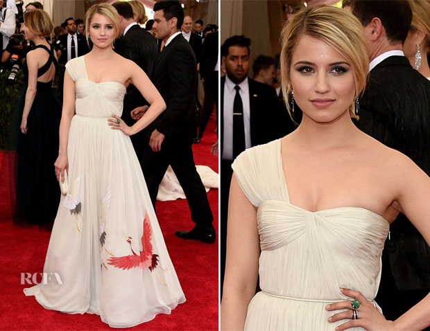 Dianna Agron In Tory Burch - 2015 Met Gala