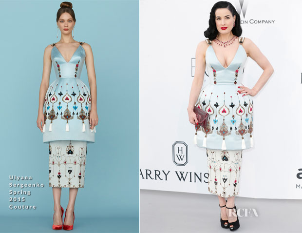 Dita von Teese In Ulyana Sergeenko Couture - 2015 amfAR Cinema Against AIDS Gala