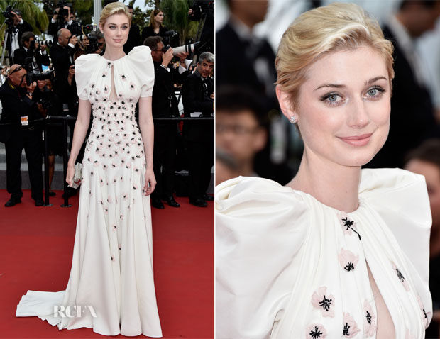 Elizabeth Debicki In Giambattista Valli Couture - 'Macbeth' Cannes Film Festival Premiere