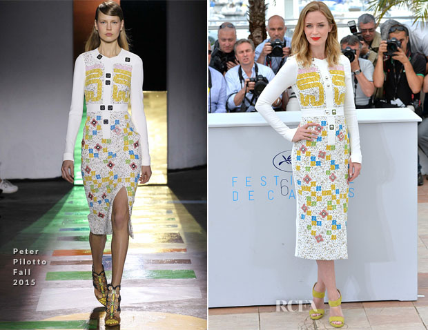 Emily Blunt In Peter Pilotto - 'Sicario' Cannes Film Festival Photocall