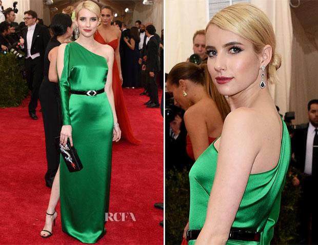 Emma Roberts In Ralph Lauren 2015 Met Gala Red Carpet Fashion Awards