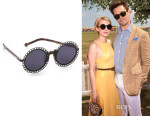 Emma Roberts' Preen By Thornton Bregazzi 'Chantilly' Sunglasses