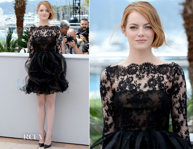 Emma Stone In Oscar de la Renta - 'Irrational Man' Cannes Film Festival Photocall