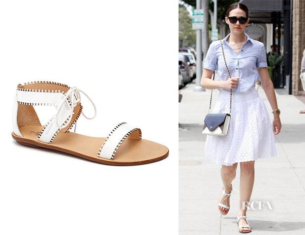 Emmy Rossum's Loeffler Randall 'Sofia' Scalloped Sandals