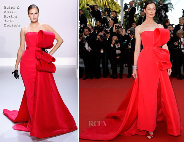 Erin O'Connor In Ralph & Russo Couture -  'Carol' Cannes Film Festival Premiere