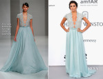 Eva Longoria In Georges Hobeika Couture - 2015 amfAR Cinema Against AIDS Gala