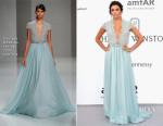 Eva Longoria In Georges Hobeika Couture - 2015 amfAR Cinema Against AIDS Gala