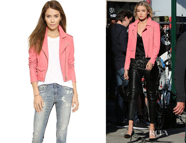 Gigi Hadid's IRO 'Ashville' Leather Jacket