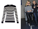 Gwyneth Paltrow's Saint Laurent Breton-Stripe Cashmere Sweater
