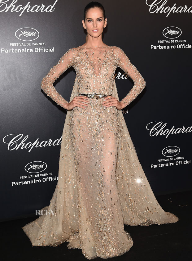 Izabel Goulart In Zuhair Murad Couture Chopard Party