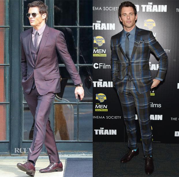 James Marsden In Dolce & Gabbana & Etro - The Tonight Show Starring Jimmy Fallon & 'The D Train' New York Premiere