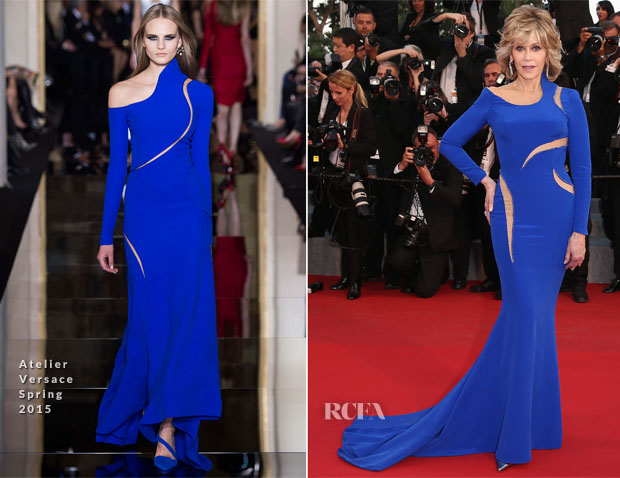 Jane Fonda In Atelier Versace - 'The Sea Of Trees' Cannes Film Festival Premiere