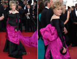 Jane Fonda In Schiaparelli Couture -  'Youth' Cannes Film Festival Premiere