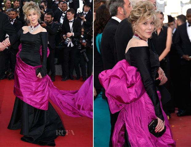 Jane Fonda In Schiaparelli Couture -  'Youth' Cannes Film Festival Premier