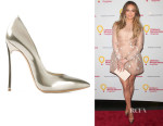 Jennifer Lopez' Casadei Stiletto Heel Pumps