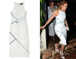 Jennifer Lopez' David Koma Tailored Dress