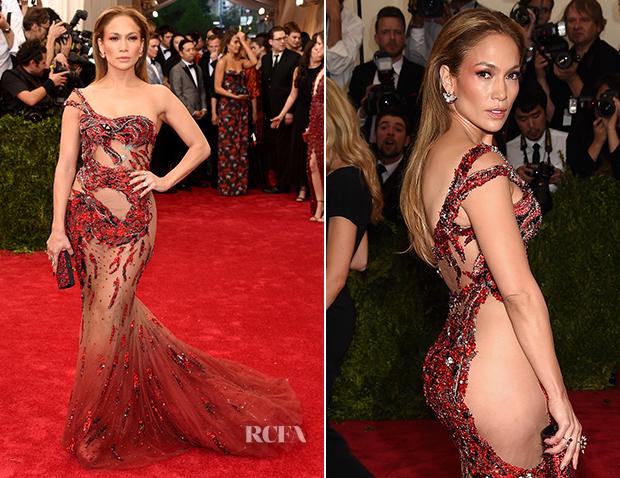 Jennifer Lopez In Atelier Versace - 2015 Met Gala