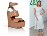 Jessica Alba's Chloé Leather Platform Wedges