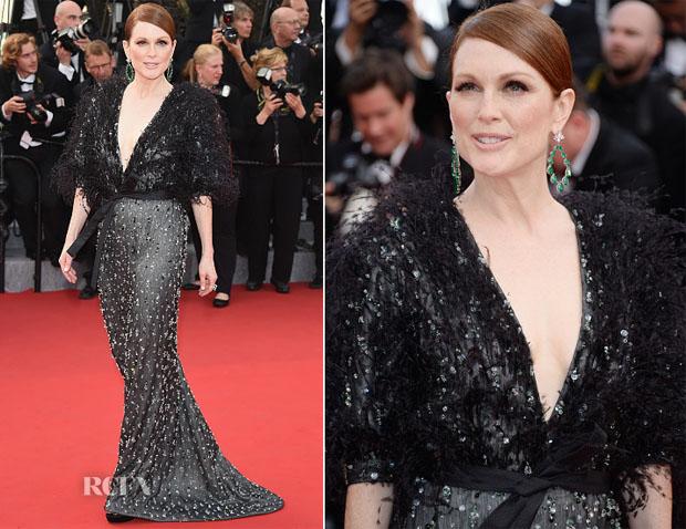 Julianne Moore In Armani Privé -  'La Tete Haute' Cannes Film Festival Premiere & Opening Ceremony