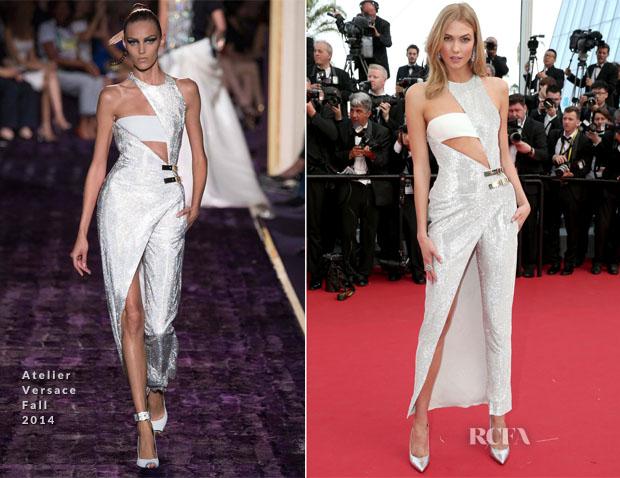 Karlie Kloss In Atelier Versace -  'La Tete Haute' Cannes Film Festival Premiere & Opening Ceremony