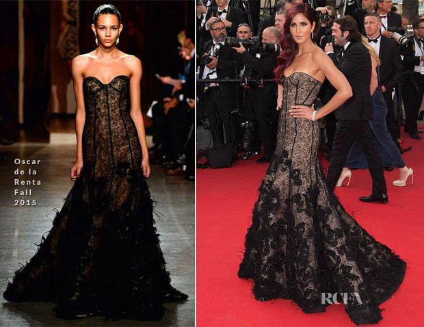 Katrina Kaif In Oscar de la Renta - La Tete Haute' Cannes Film Festival Premiere & Opening Ceremony