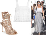 Kendall Jenner's 3.1 Phillip Lim Cropped Top And Sophia Webster 'Delphine' Cage Booties
