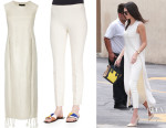 Kendall Jenner's The Row 'Wellan' Tunic And The Row Skinny Pants