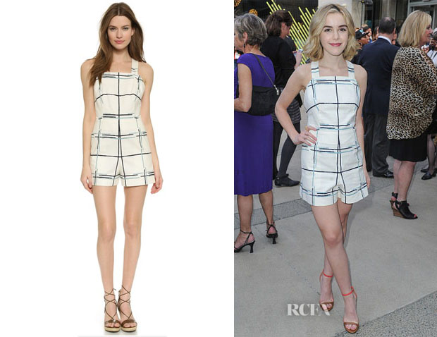 Kiernan Shipka's Tory Burch Stretch Canvas Romper