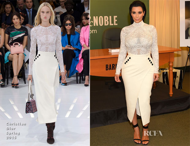 Kim Kardashian In Christian Dior -  'Selfish' Book Signing
